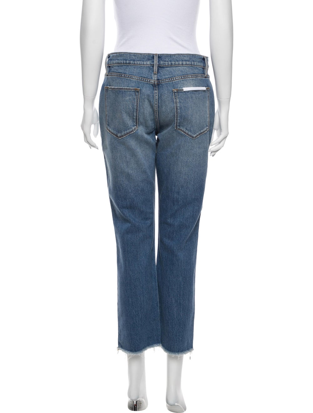 Frame Mid-Rise Straight Leg Jeans Blue - image 3