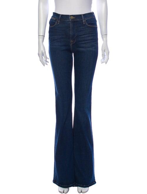 Frame Mid-Rise Wide Leg Jeans Blue