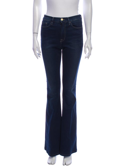 Frame Mid-Rise Flared Jeans Blue