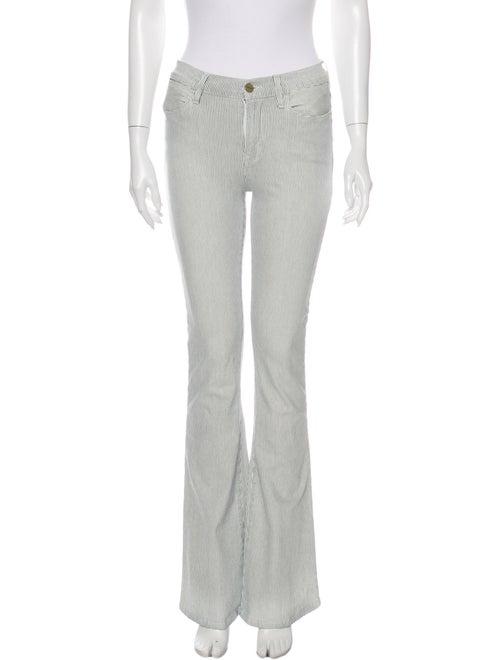 Frame Striped Flared Pants White