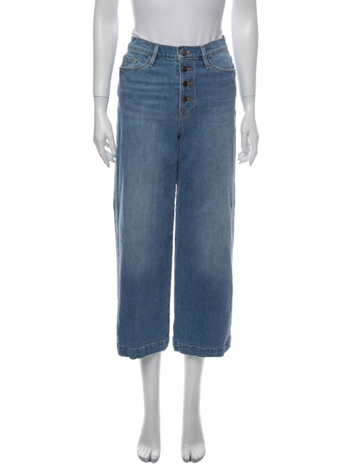 Frame High-Rise Wide Leg Jeans Blue