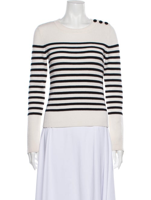 Frame Merino Wool Striped Sweater Wool