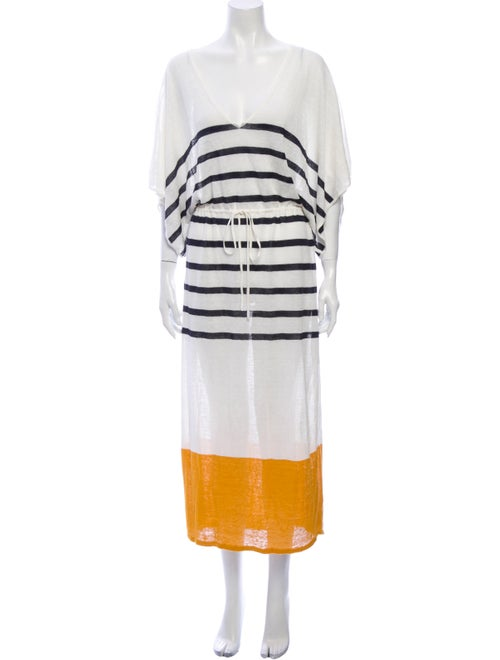 Frame Linen Long Dress White
