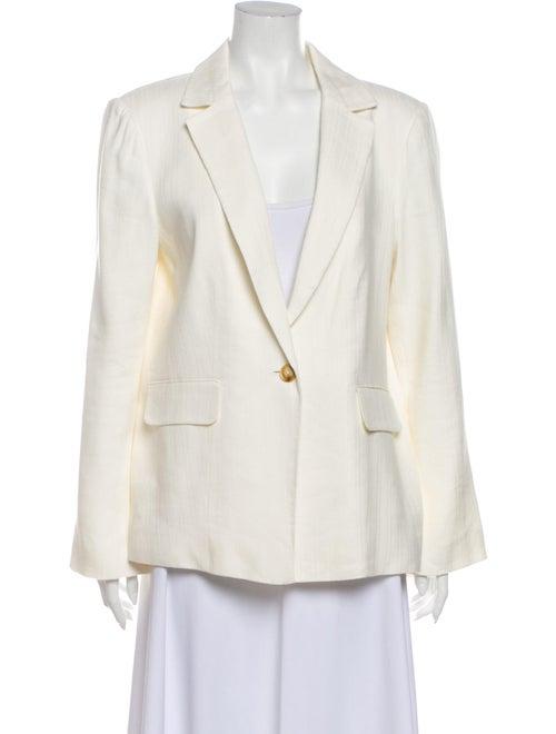 Frame Linen Blazer White