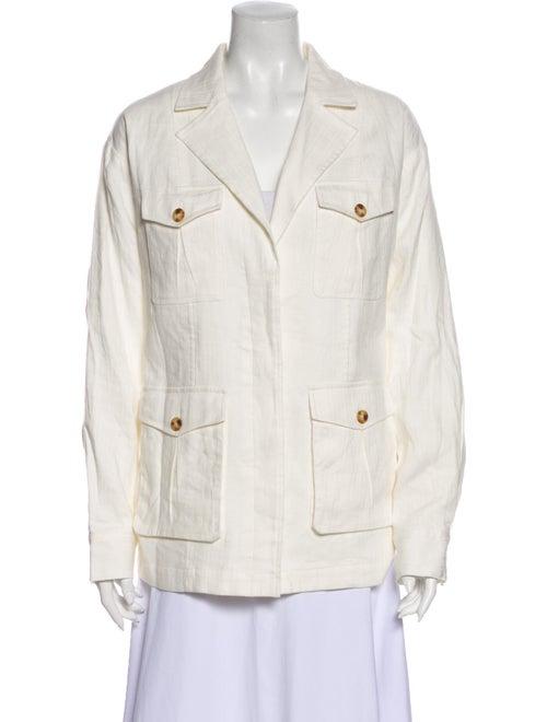 Frame Linen Jacket White