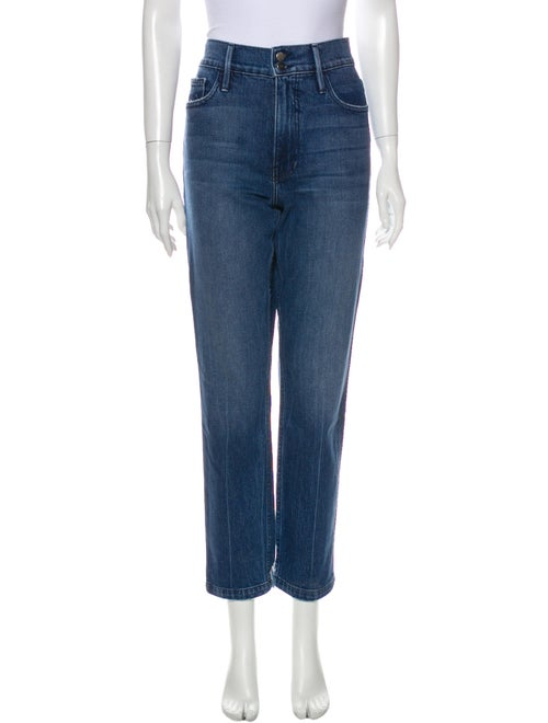 Frame Low-Rise Straight Leg Jeans Blue