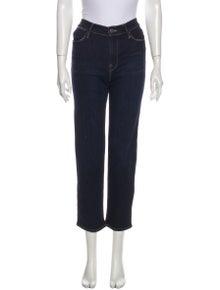 FRAME Mid-Rise Straight Leg Jeans