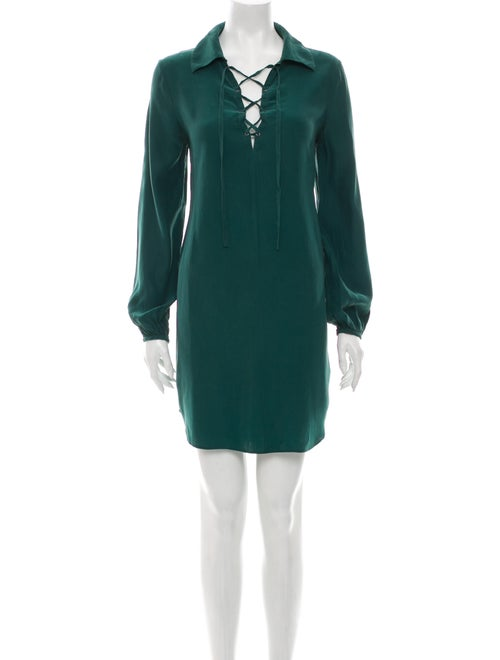 Frame Silk Mini Dress Green