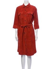 FRAME Suede Midi Length Dress