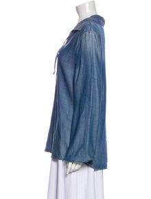 FRAME V-Neck Long Sleeve Blouse