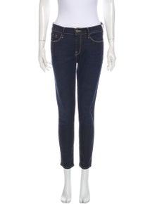 FRAME Mid-Rise Skinny Leg Jeans
