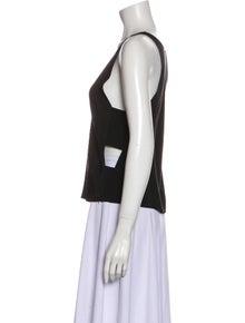 Femme D'armes Silk Scoop Neck Crop Top