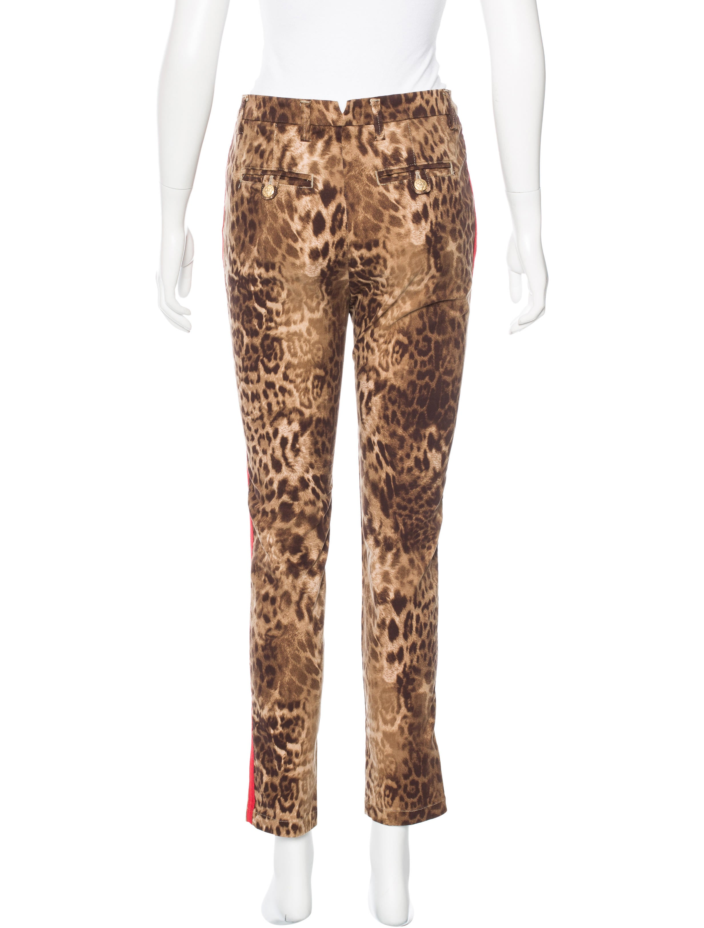 Femme by Michele Rossi Leopard Print Straight-Leg Jeans ...