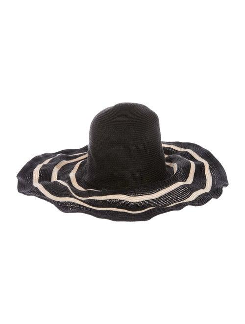 Filù Hats Wide-Brim Straw Hat Black