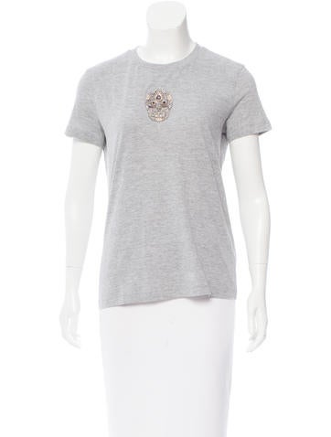Figue Embellished Crew Neck Top w/ Tags None