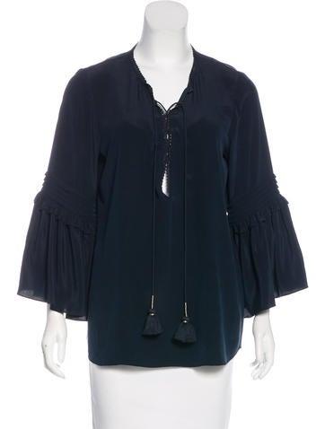 Figue silk long sleeve blouse dresses wfi21091 the for Long sleeve silk shirt dress