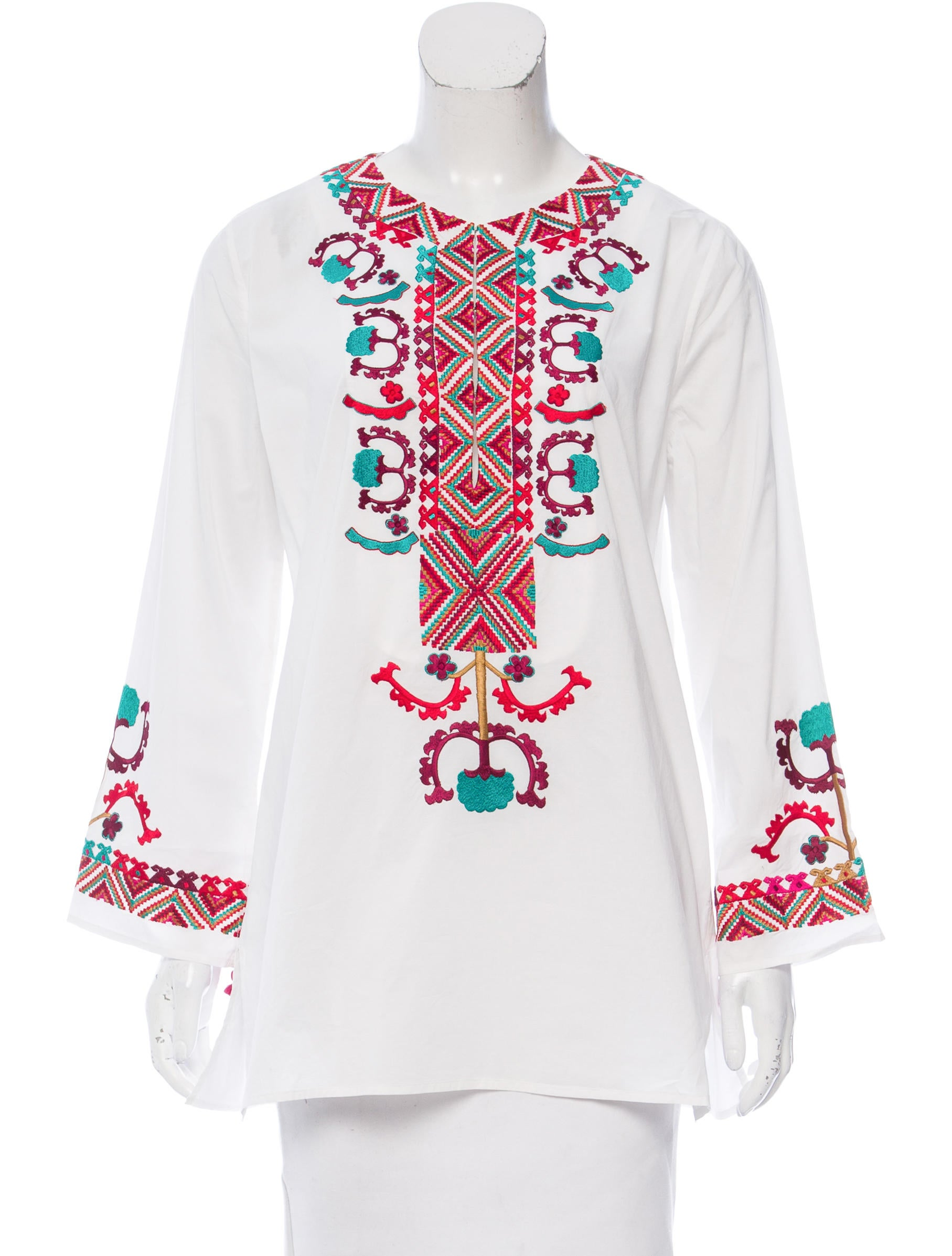 Figue embroidered long sleeve tunic w tags clothing
