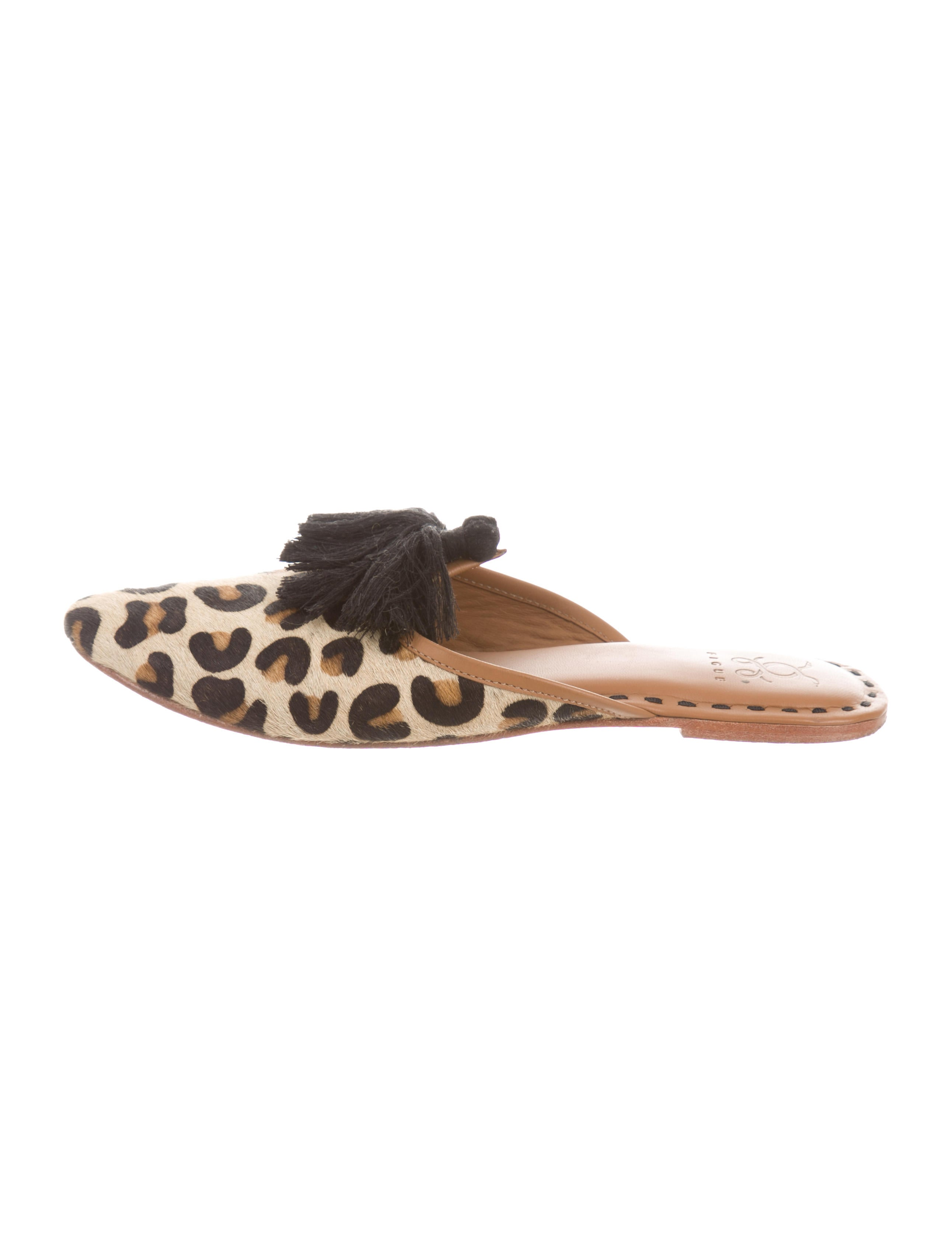 top quality cheap online Figue Leopard Fringe Mules clearance online ebay shopping online original outlet footlocker pictures Fhvjb