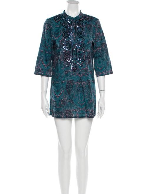 Figue Paisley Print Mini Dress - image 1
