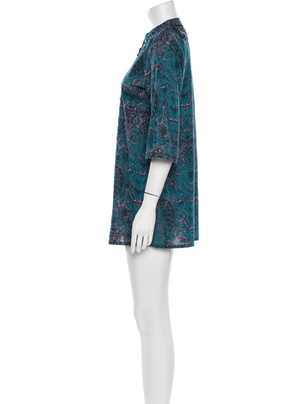 Figue Paisley Print Mini Dress - image 2