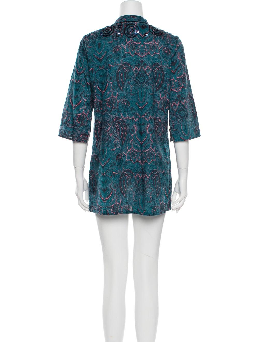Figue Paisley Print Mini Dress - image 3