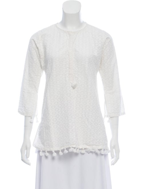Figue Textured Knit Tunic White