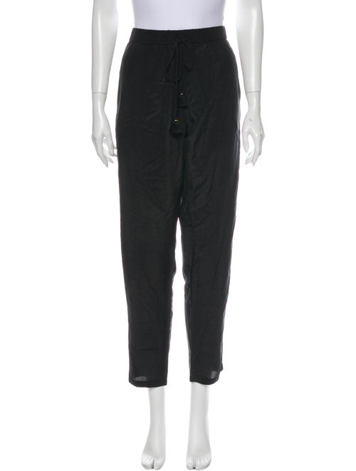 Figue Silk Straight Leg Pants Black