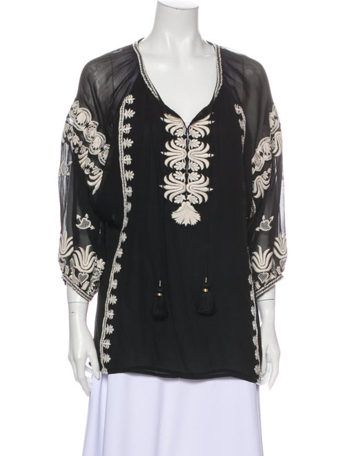 Figue Silk Printed Tunic Black