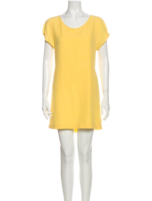 Filippa K Silk Mini Dress Yellow
