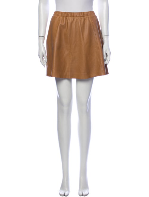 Filippa K Leather Mini Skirt