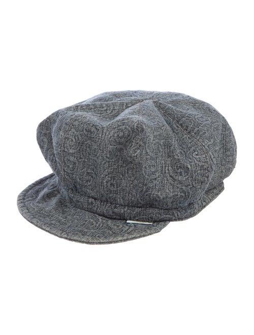 Fiorucci Woven Newsboy Hat Blue