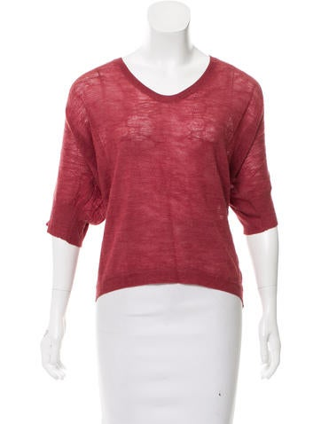 Eileen Fisher V-Neck Knit Sweater None