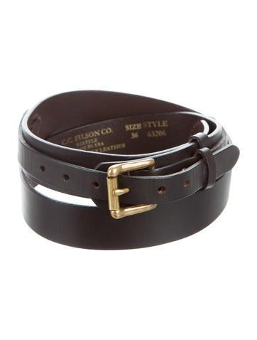 filson gold tone leather belt accessories wflsn20124