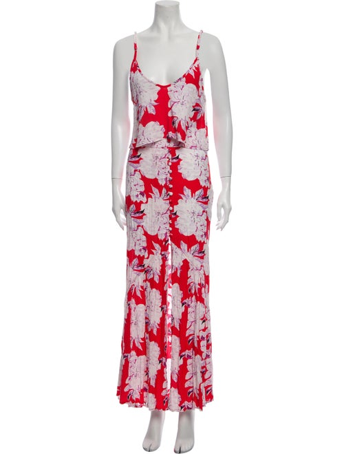 Flynn Skye Floral Print Skirt Set w/ Tags Red