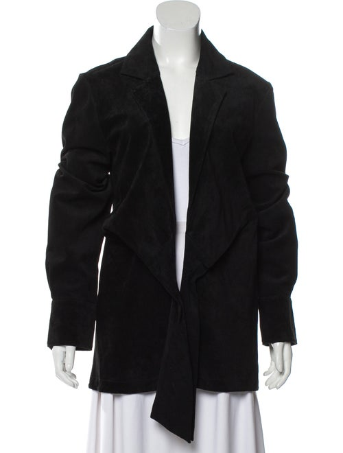 Finlay & Co. Leather Blazer Black