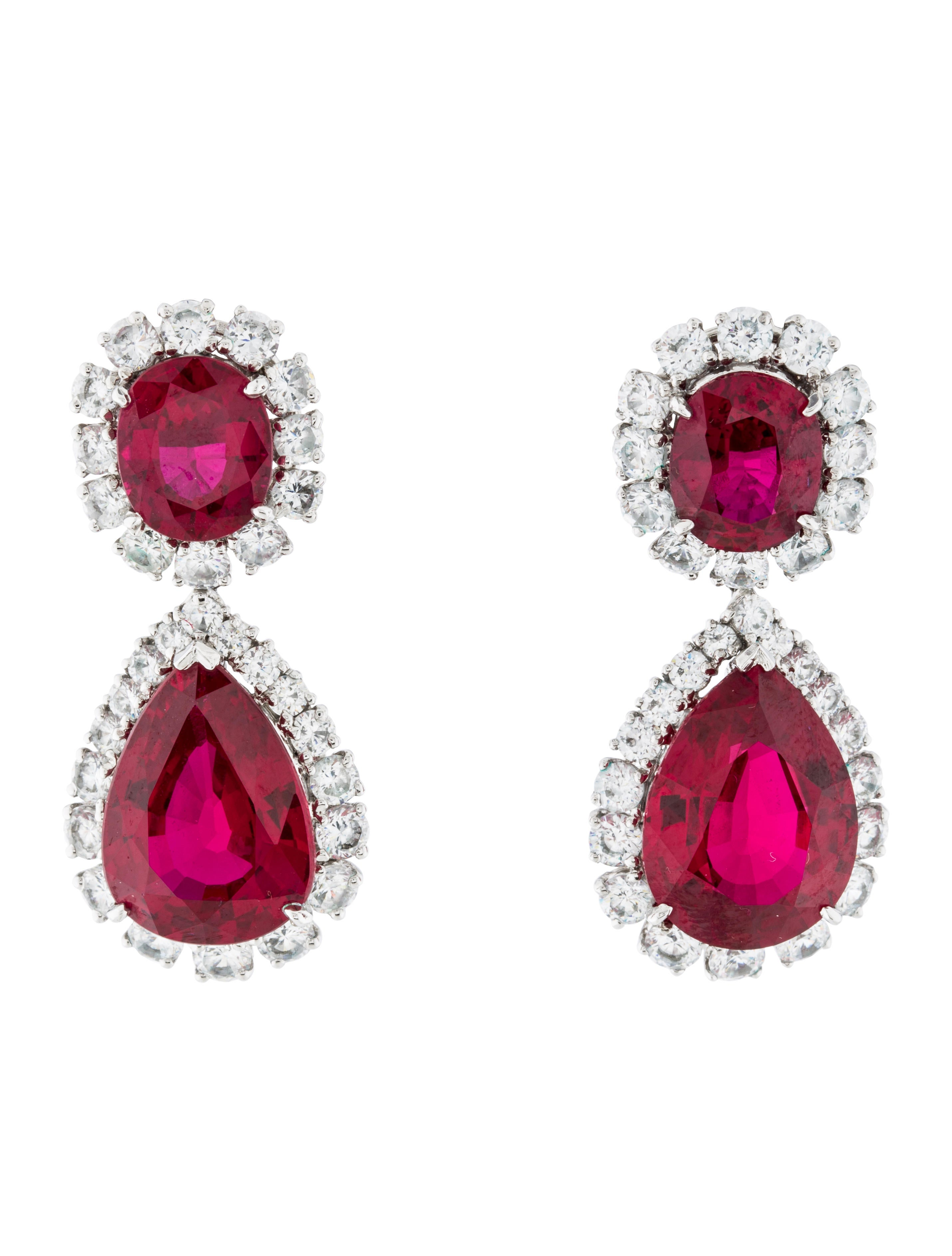 fantasia by deserio synthetic ruby earrings earrings. Black Bedroom Furniture Sets. Home Design Ideas