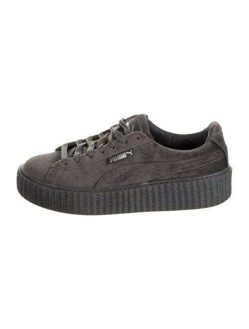 Fenty Suede Platform Sneakers Grey