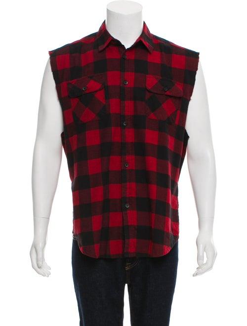 8132302d7745 FOG Fear Of God Sleeveless Plaid Flannel Shirt - Clothing ...