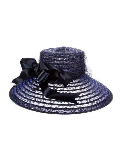 Frank Olive Vintage Wide Brim Hat Blue