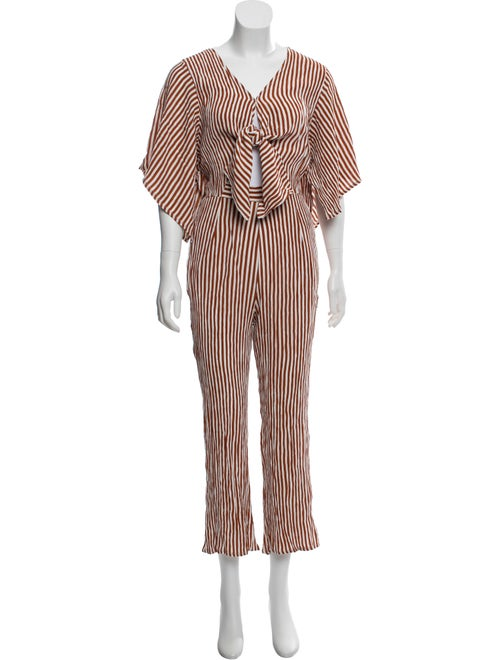 Striped Cutout Jumpsuit W/ Tags by Faithfull The Brand