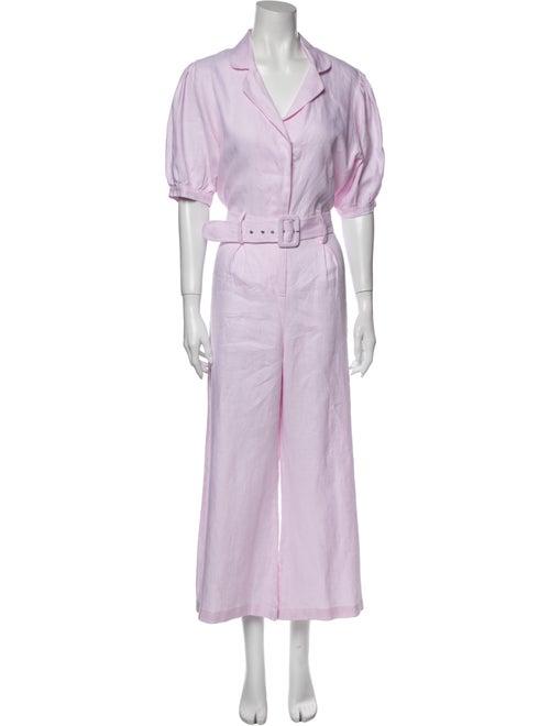 Faithfull The Brand Linen Jumpsuit Pink