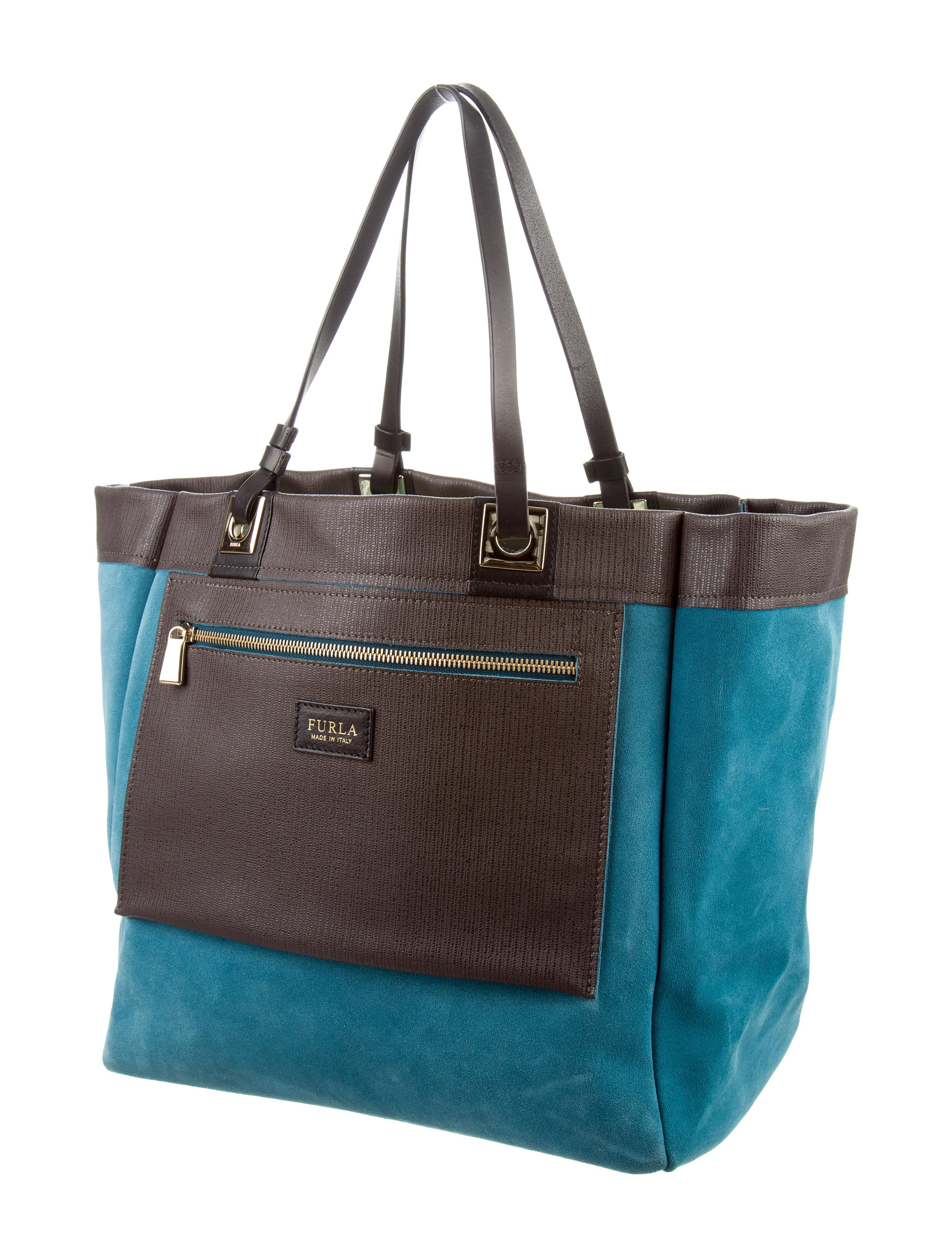 furla reversible suede tote handbags wfu20240 the realreal. Black Bedroom Furniture Sets. Home Design Ideas