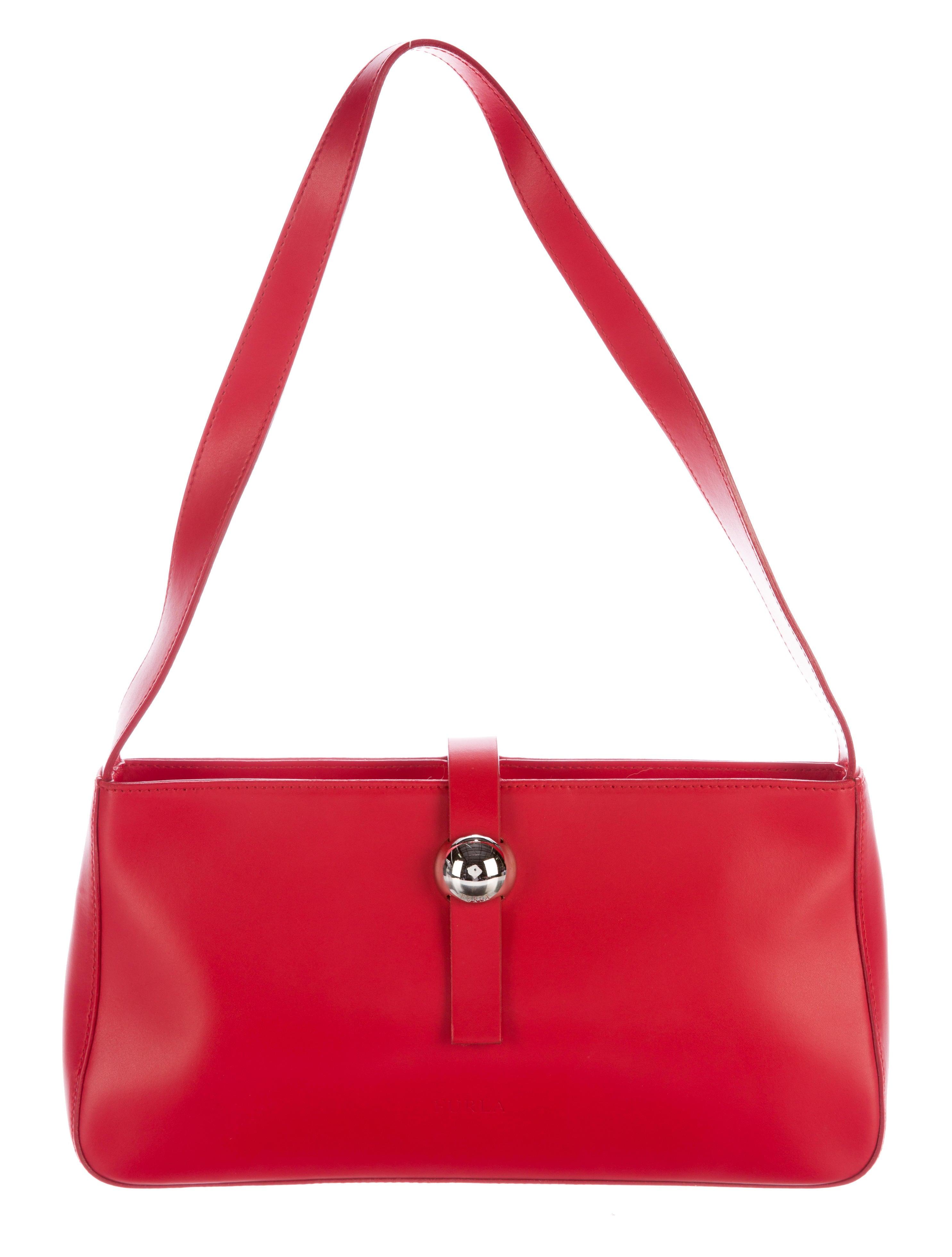 furla leather shoulder bag handbags wfu20270 the realreal. Black Bedroom Furniture Sets. Home Design Ideas