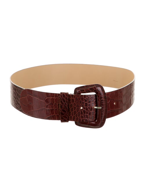 Furla Leather Wide Waist Belt