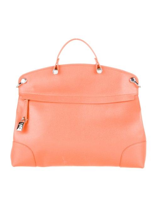 Furla Leather Shoulder Bag Orange