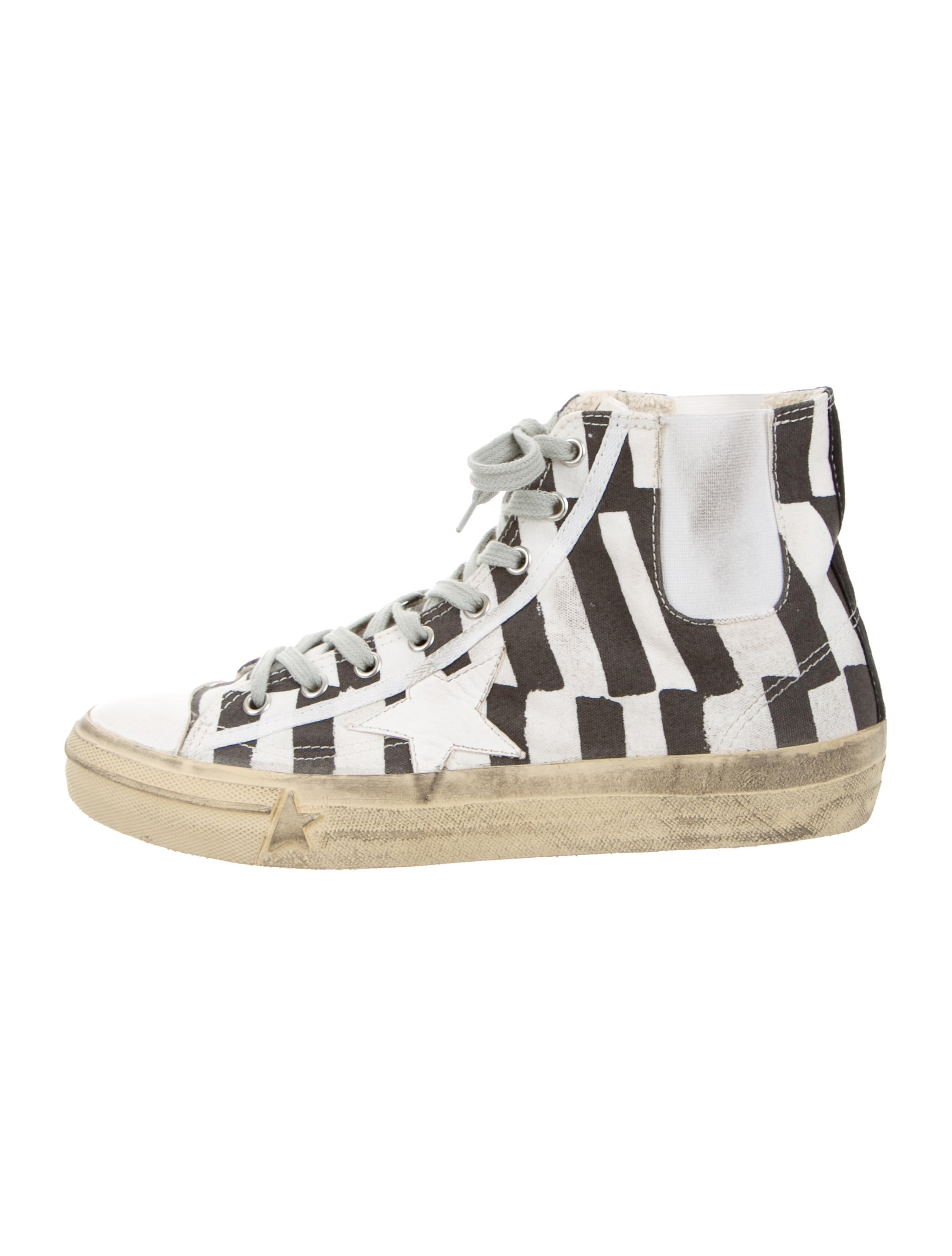 golden goose canvas high top sneakers shoes wg522435