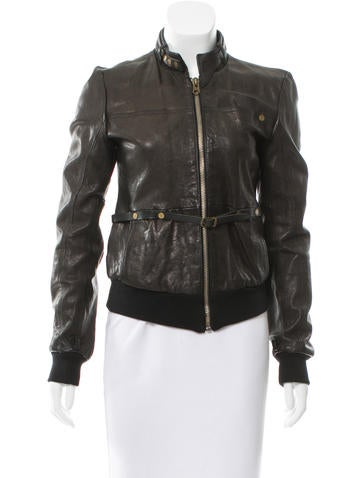 Golden Goose Leather Bomber Jacket