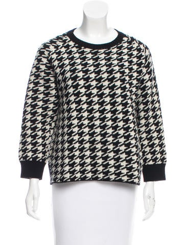 Golden Goose Merino Wool Houndstooth Sweater None