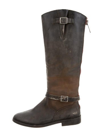 Distressed Knee-High Boots