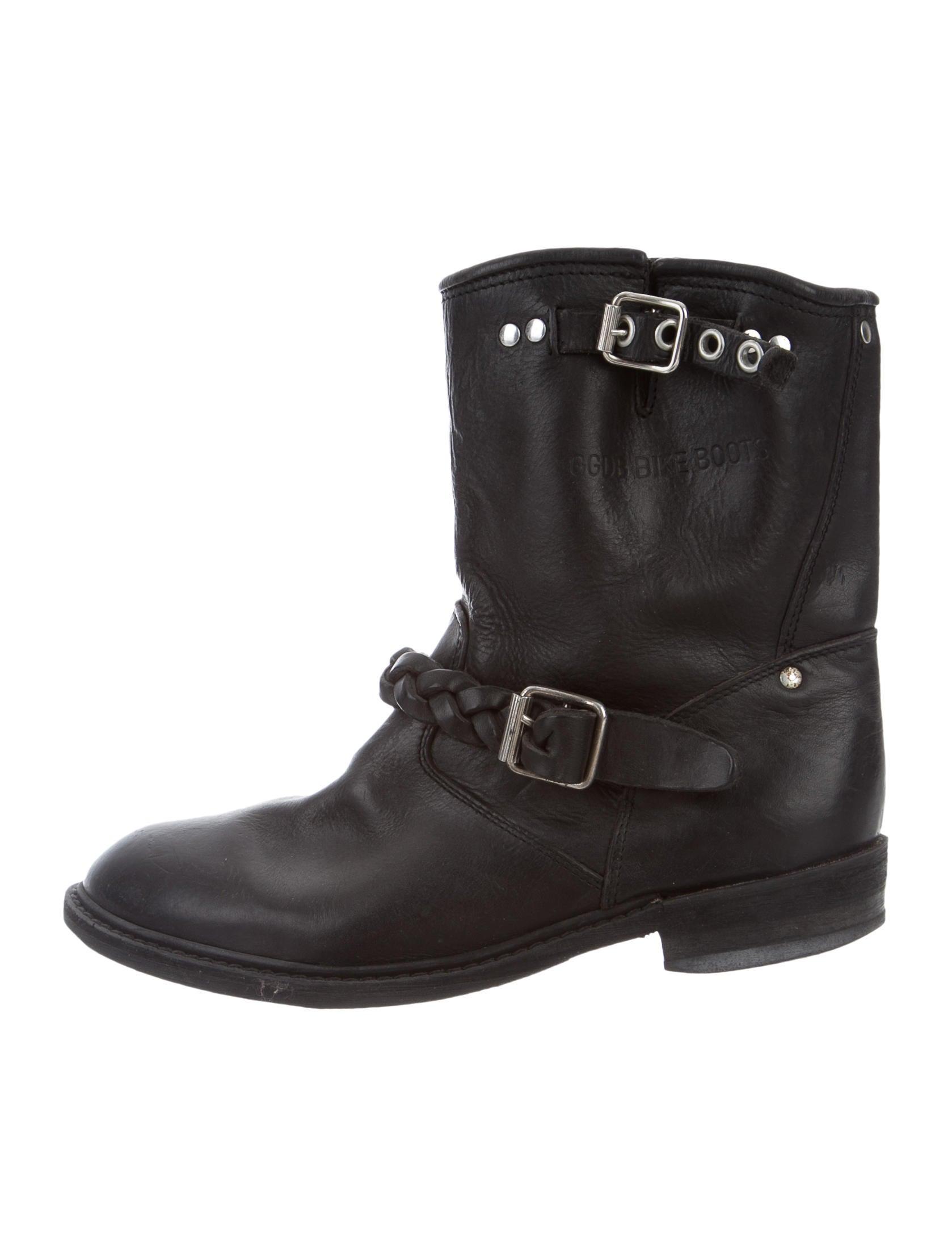 golden goose biker ankle boots shoes wg523278 the realreal. Black Bedroom Furniture Sets. Home Design Ideas